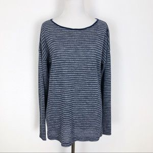 Lou & Grey Loft L Stripe Knit Top Sweater Stripe